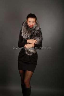 Шарфы, съёмные воротники из лисы и чернобурки в Москве Фото 1