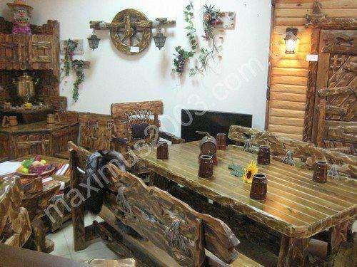 Столы под старину из дерева в Екатеринбурге Фото 3