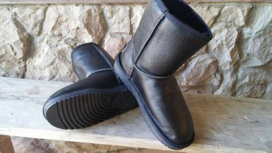 Обувь угги  замш и кожа