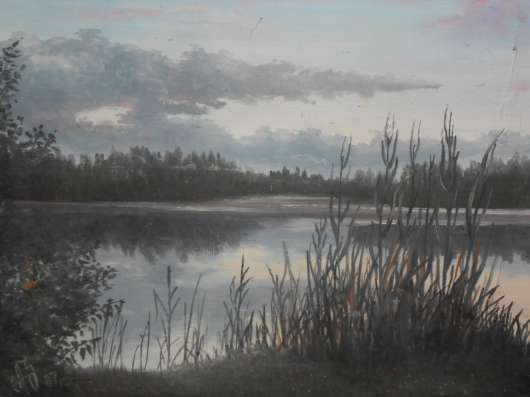 Продам картину художника А. Зайцева Закат на реке