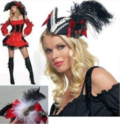Платье и Шляпка страстной пиратки новогодняя/карнавальная