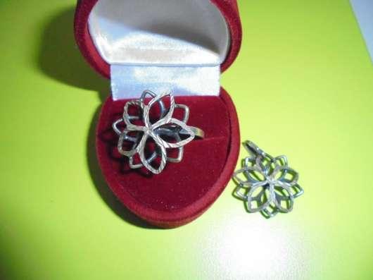 Комплект : кольцо + кулон, серебро 925 в Москве Фото 3