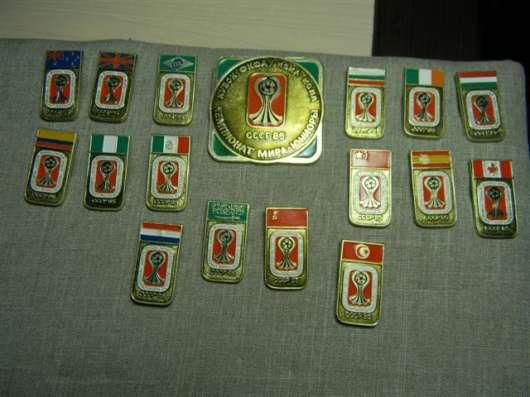 Значки. Чемпионат мира по футболу, юниоры,1985г., 25 штук