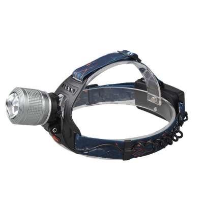 Налобный фонарь Boruit с зумом серебро