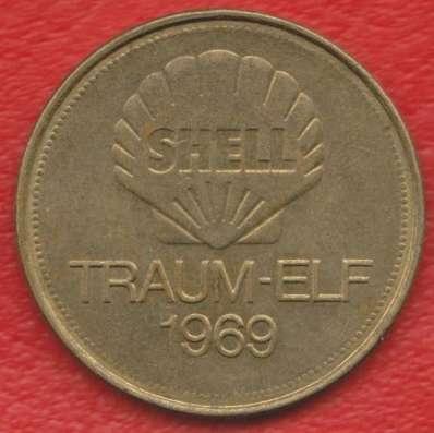 Жетон Shell Шелл Фихтель футбол Traum-elf 1969