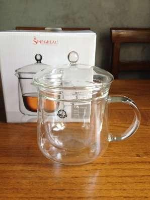 Новый заварочный чайник CREMONA стеклянный, двойной, 680 мл