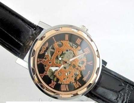 Часы Winner с отображаемым механизмом