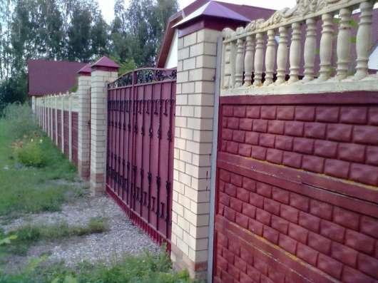 Декоративные бетонные заборы в Великих Луках Фото 3