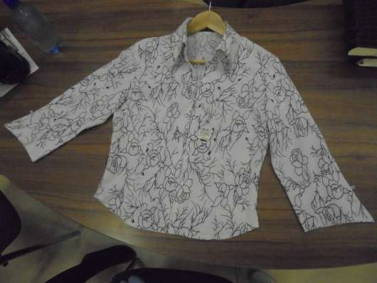 Блузка (рубашка) стрейч, на молнии, р.48-50 в Москве Фото 1