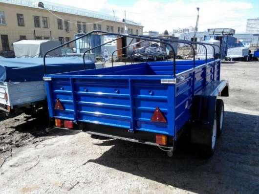 Двухосный прицеп для легкового автомобиля 2760х1560 с тентом и дугами в Москве Фото 4