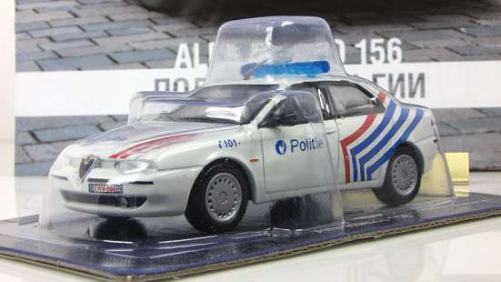 полицейские машины мира №49 ALFA ROMEO 156 полиция бельгии