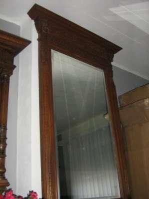 Антикварное зеркало в стиле Ренессанс Западная Европа, Бельгия Зеркало в раме в Ростове-на-Дону Фото 2