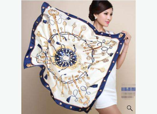 атласный шелковый платок