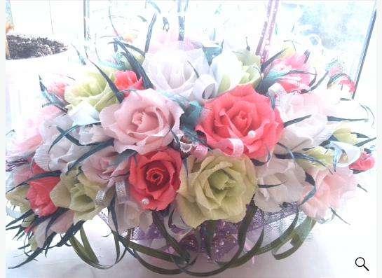 изготовление букетов ,корзинок  из цветов ручной работы